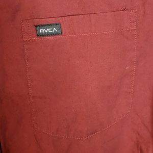 RVCA Shirts - RVCA medium regular maroon short sleeve shirt